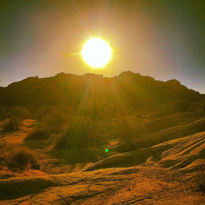"""Sun over Hill"" (Santa Clarita, California)"