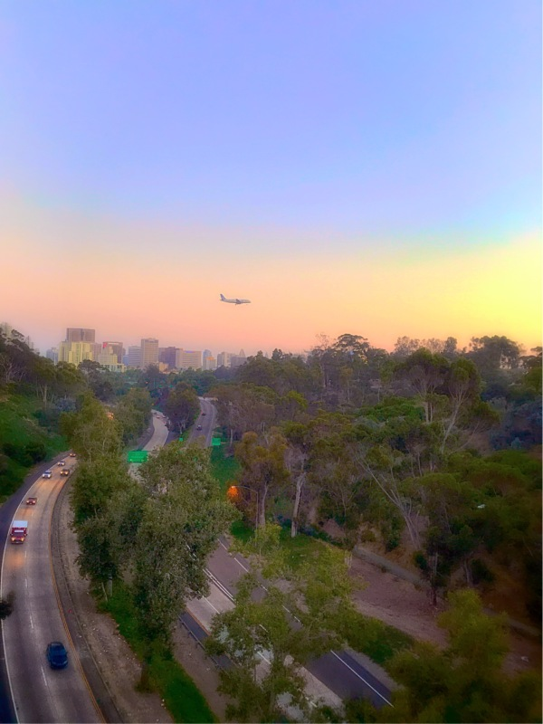 View of San Diego from Balboa Park bridge